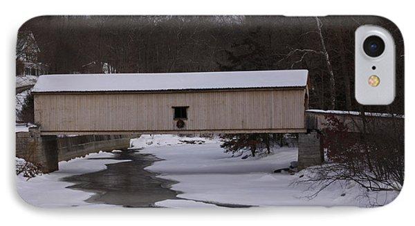 Comstock Covered Bridge Winter 2015 2 IPhone Case