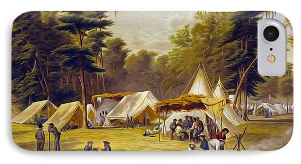 Confederate Camp IPhone Case
