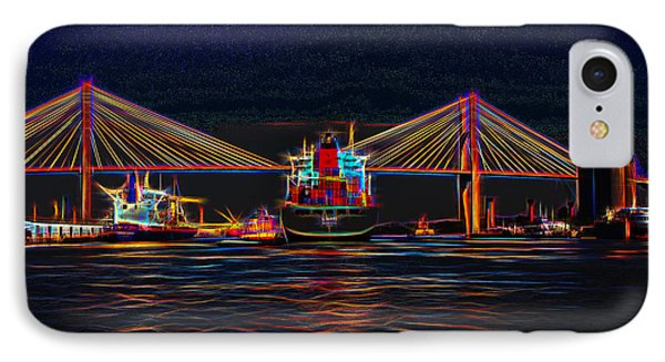 Container Ship Arriving At Savannah IPhone Case