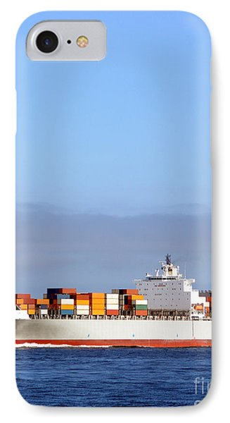 Container Ship At Sea IPhone Case