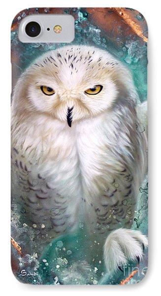 Copper Snowy Owl IPhone Case
