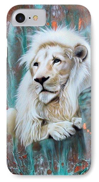 Copper White Lion IPhone Case
