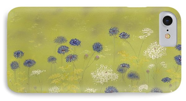 Cornflowers And Queen Anne's Lace IPhone Case