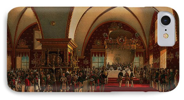 IPhone Case featuring the digital art Coronation Banquet by Vasily Timm