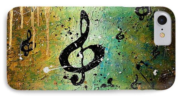 Trombone iPhone 8 Case - Cosmic Jam by Carmen Guedez