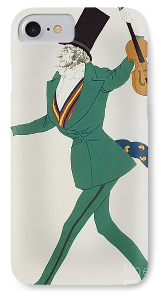 Violin iPhone 8 Case - Costume Design For Paganini In The Enchanted Night by Leon Bakst