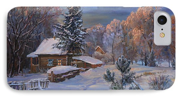Country House In Winter IPhone Case