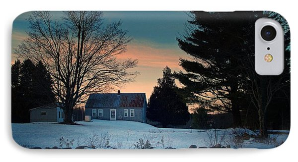 Countryside Winter Evening IPhone Case