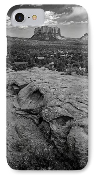Courthouse Butte In Sedona Bw IPhone Case