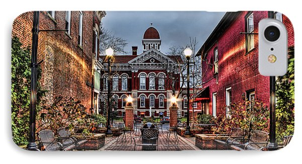 Courtyard Courthouse IPhone Case