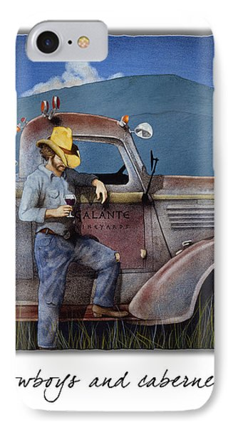 Cowboys And Cabernet... IPhone Case