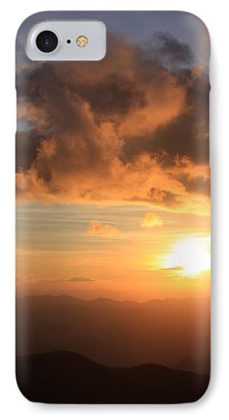 Cowee Mountains Sunset - Blue Ridge Parkway IPhone Case
