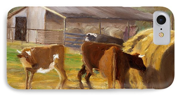 Cows Hay And Barn In Louisiana IPhone Case