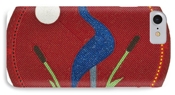 Cradleboard Beadwork Summer Crane IPhone Case