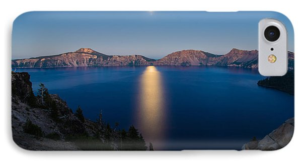 Crater Lake Moonrise IPhone Case