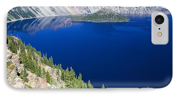 Crater Lake Wizard Island 090910a IPhone Case