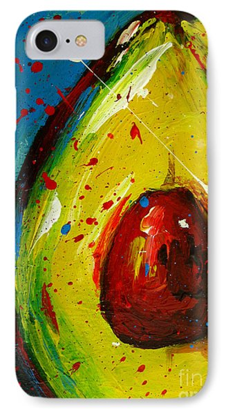 Fruit iPhone 8 Case - Crazy Avocado 4 - Modern Art by Patricia Awapara