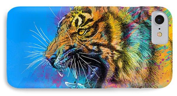 Animals iPhone 8 Case - Crazy Tiger by Olga Shvartsur