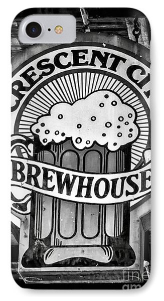 Crescent City Brewhouse - Bw IPhone Case
