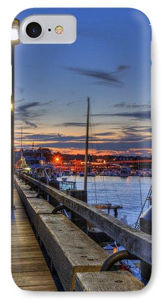 Crescent Moon Over Newburyport Harbor IPhone Case