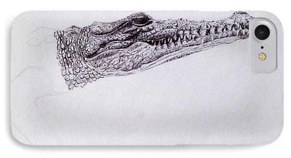 Croc Sketch IPhone Case