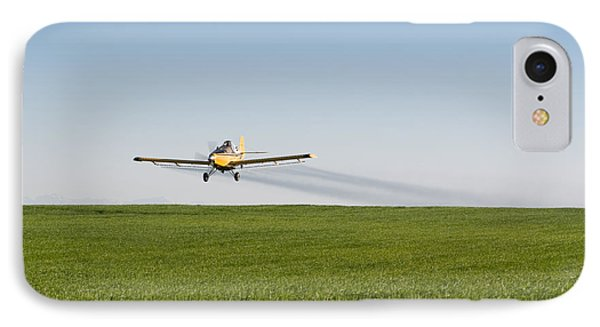 Crop Duster Airplane Flying Over Farmland IPhone Case