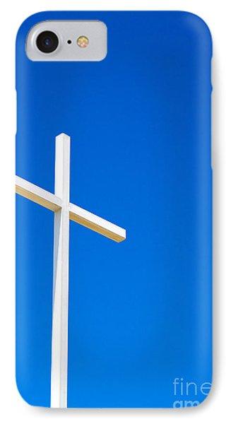 Cross On Blue Sky IPhone Case