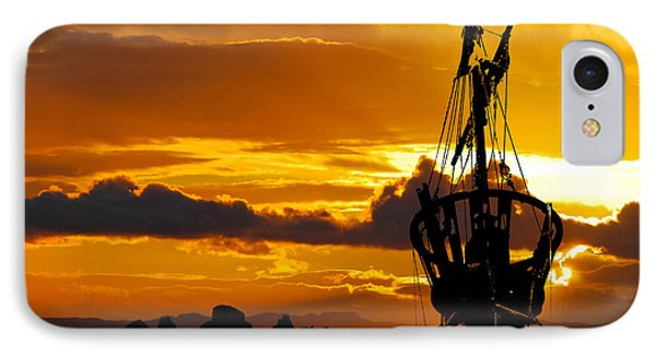 Crows Nest Silhouette On Newfoundland Coast IPhone Case