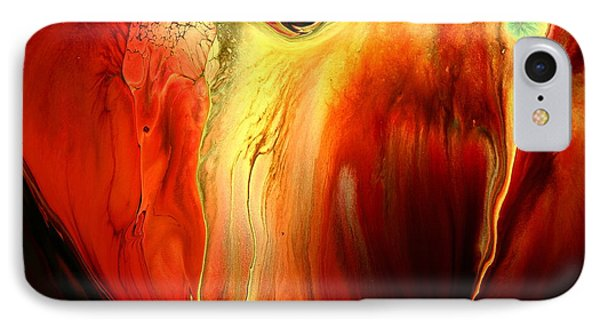 Crying For Love Modern Abstract Art By Kredart IPhone Case