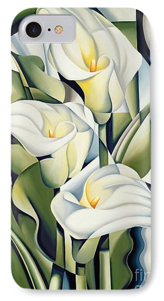Shapes iPhone 8 Case - Cubist Lilies by Catherine Abel
