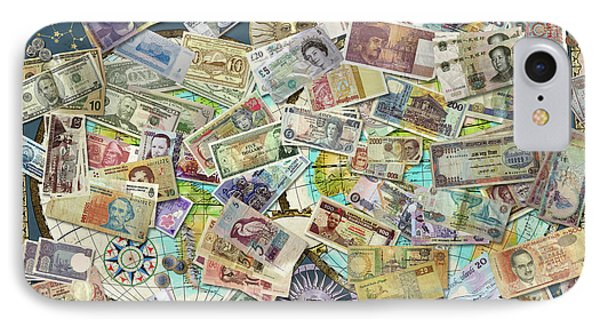 Currency Map IPhone Case