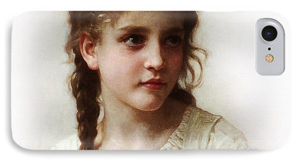 IPhone Case featuring the painting Cute Little Girl by Bouguereau