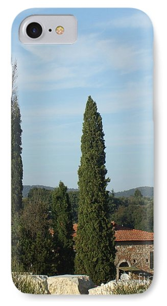 Cypress In Rapolano IPhone Case
