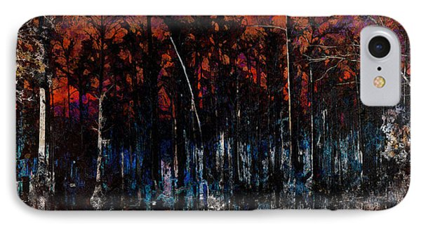 Cypress Swamp Abstract #1 IPhone Case