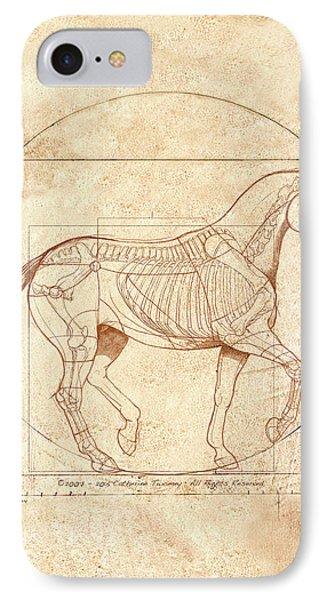 Horse iPhone 8 Case - da Vinci Horse in Piaffe by Catherine Twomey