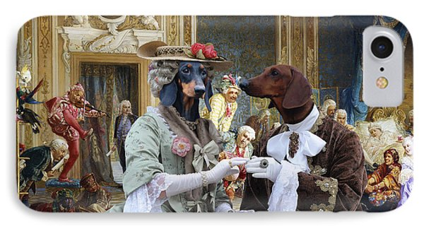 Dachshund Art - Royal Party IPhone Case
