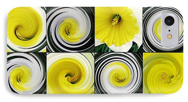 Daffodil Spring Mosaic IPhone Case