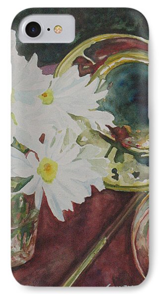 Trombone iPhone 8 Case - Daisies Bold As Brass by Jenny Armitage