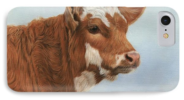 Cow iPhone 8 Case - Daisy by David Stribbling