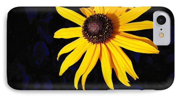 Daisy On Dark Blue IPhone Case