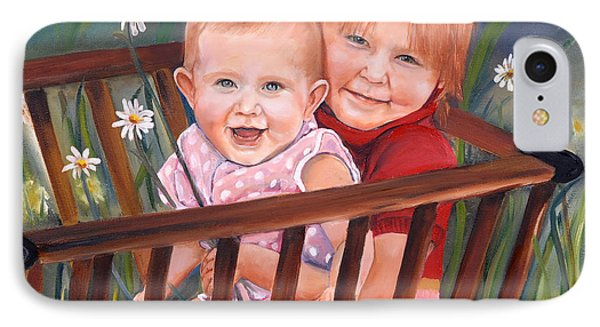 Daisy - Portrait - Girls In Wagon IPhone Case