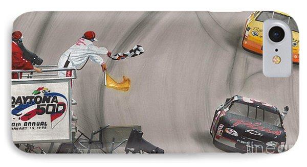 Dale Earnhardt Wins Daytona 500-checkered Flag IPhone Case