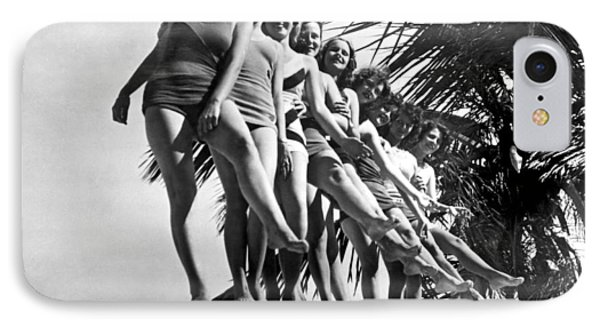 Dancers Practice On Palm Tree IPhone Case