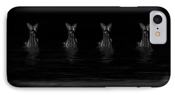 Dancing Fish At Night 5 IPhone Case