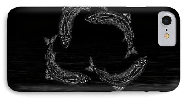 Dancing Fish At Night 7 IPhone Case