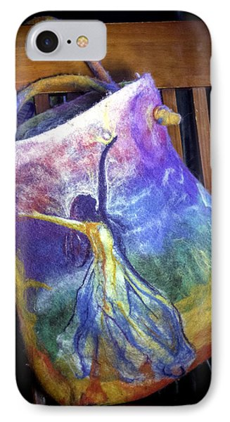 Dancing Goddess Needle Felted Bag IPhone Case