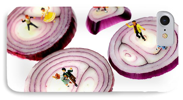 Dancing On Onoin Slices Little People On Food IPhone Case