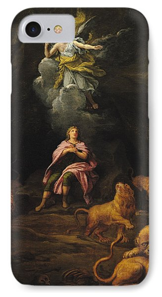 Dungeon iPhone 8 Case - Daniel In The Den Of Lions Oil On Canvas by Francois Verdier