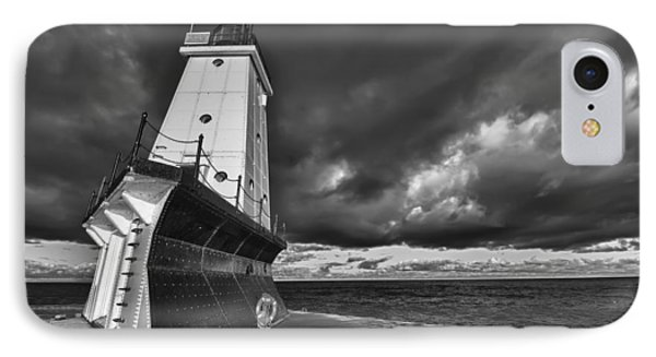 Dark Clouds Black And White IPhone Case