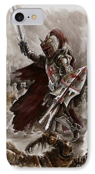 Dungeon iPhone 8 Case - Dark Crusader by Mariusz Szmerdt